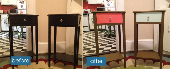Before and After- Bedside Tables