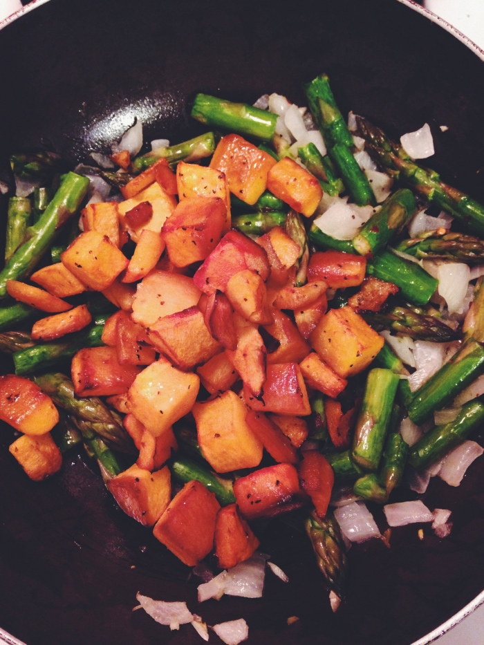squash & asparagus